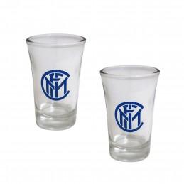 FC INTERNAZIONALE SHOT GLASSES SET 2 BICCHIERINI
