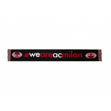 SCIARPA SCARF AC MILAN UFFICIALE WE ARE MILAN NERA