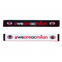 SCIARPA SCARF AC MILAN POLIESTERE UFFICIALE WE ARE MILAN
