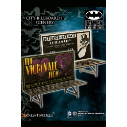 BATMAN MINIATURE GAME - CITY BILLBOARD 1 SCENARY MINI RESIN STATUE FIGURE KNIGHT MODELS