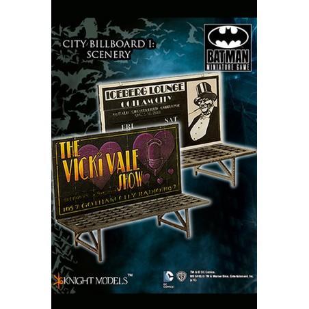 BATMAN MINIATURE GAME - CITY BILLBOARD 1 SCENARY MINI RESIN STATUE FIGURE