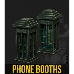 BATMAN MINIATURE GAME - PHONE BOOTHS SCENARY MINI RESIN STATUE FIGURE KNIGHT MODELS