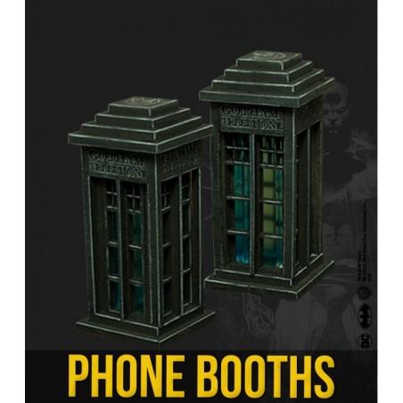 BATMAN MINIATURE GAME - PHONE BOOTHS SCENARY MINI RESIN STATUE FIGURE