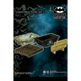 BATMAN MINIATURE GAME - CONSTRUCTION SET 1 SCENARY MINI RESIN STATUE FIGURE KNIGHT MODELS