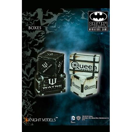 BATMAN MINIATURE GAME - BOXES SCENARY MINI RESIN STATUE FIGURE