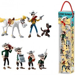 LUCKY LUKE TUBE SET 7 MINI FIGURES PLASTOY