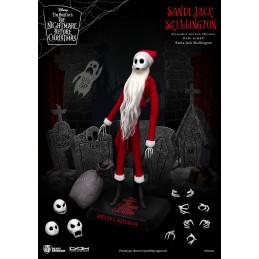 NIGHTMARE BEFORE CHRISTMAS SANTA JACK SKELLINGTON DAH-019SP CLOTH ACTION FIGURE BEAST KINGDOM