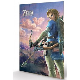 PYRAMID INTERNATIONAL THE LEGEND OF ZELDA LANDSCAPE WOOD PRINT STAMPA SU LEGNO