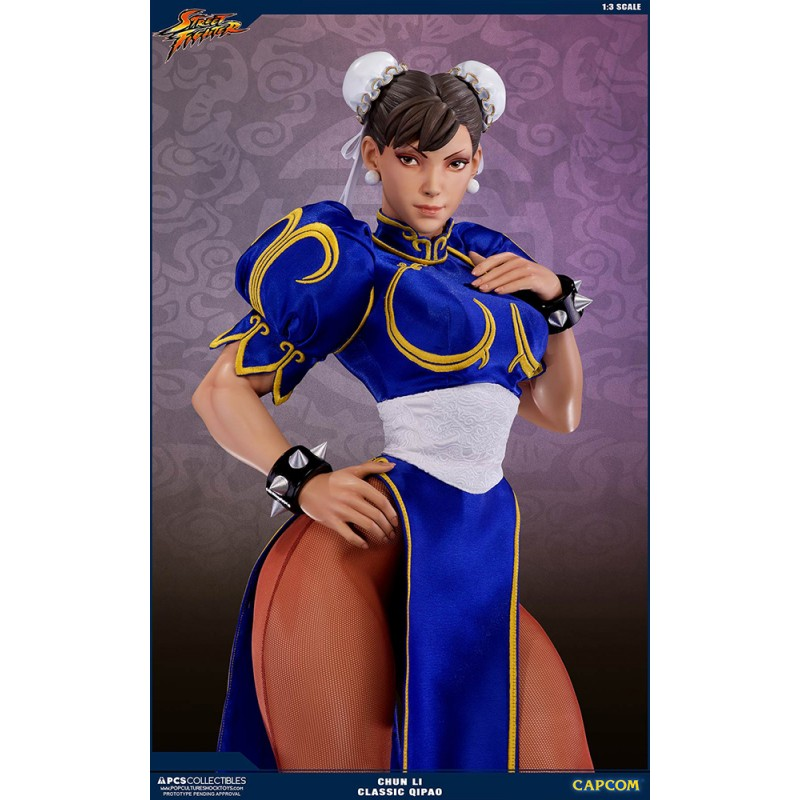 STREET FIGHTER CHUN-LI CLASSIC QIPAO 73CM STATUA FIGURE POP CULTURE SHOCK COLLECTIBLES