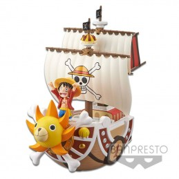 ONE PIECE MEGA WFC THOUSAND SUNNY STATUA FIGURE BANPRESTO