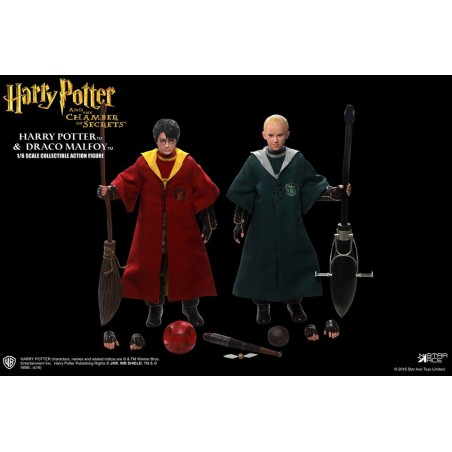 HARRY POTTER AND DRACO MALFOY QUIDDITCH VERSION 2-PACK ACTION FIGURE