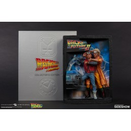 SIDESHOW BACK TO THE FUTURE RITORNO AL FUTURO SCULPTED POSTER AND ULTIMATE VISUAL HISTORY COLLECTOR'S EDITION