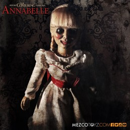 THE CONJURING ANNABELLE PROP REPLICA ACTION FIGURE MEZCO TOYS
