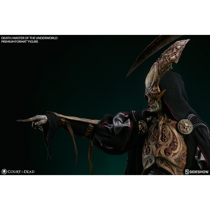 SIDESHOW DEATH MASTER OF THE UNDERWORLD PREMIUM FORMAT STATUE FIGURE