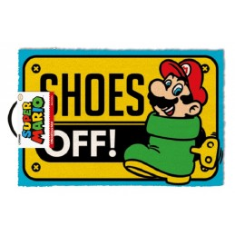 SUPER MARIO SHOES OFF DOORMAT ZERBINO TAPPETINO PYRAMID INTERNATIONAL