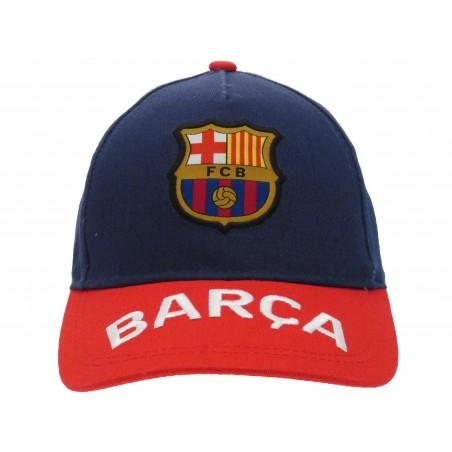 CAPPELLO BASEBALL CAP FC BARCELLONA UFFICIALE BARCELONA VISIERA ROSSA