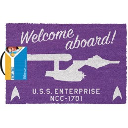 PYRAMID INTERNATIONAL STAR TREK WELCOME ABOARD DOORMAT ZERBINO TAPPETINO