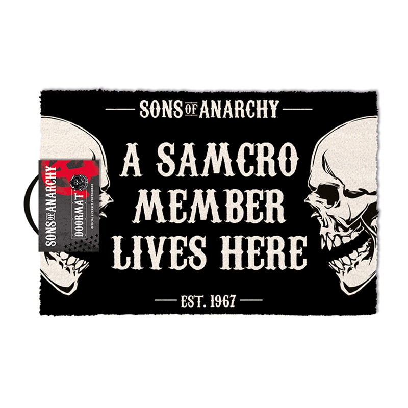 PYRAMID INTERNATIONAL SONS OF ANARCHY DOORMAT ZERBINO TAPPETINO