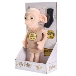 NOBLE COLLECTIONS HARRY POTTER INTERACTIVE DOBBY PUPAZZO PELUCHE PLUSH FIGURE