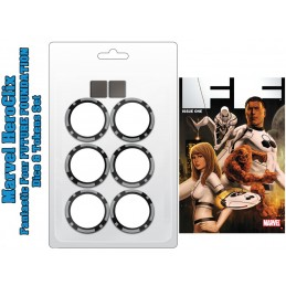 MARVEL HEROCLIX FANTASTIC FOUR FUTURE FOUNDATION DICE AND TOKENS WIZKIDS