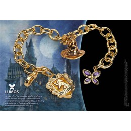 NOBLE COLLECTIONS HARRY POTTER HUFFLEPUFF CHARM BRACELET