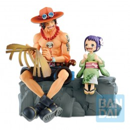 BANDAI ONE PIECE ICHIBANSHO PORTGAS D. ACE AND OTAMA 20CM STATUE FIGURE