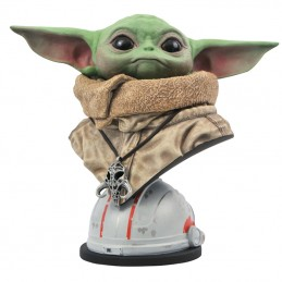 DIAMOND SELECT STAR WARS THE MANDALORIAN LEGENDS IN 3D YODA THE CHILD BUST STATUE