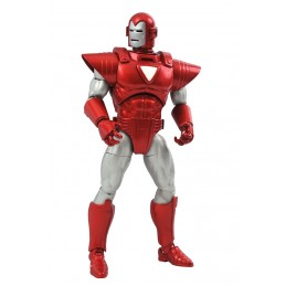 DIAMOND SELECT MARVEL SELECT IRON MAN SILVER CENTURION ACTION FIGURE