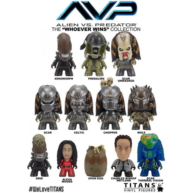 TITAN AVP ALIEN VS PREDATOR COLLECTION - BISHOP VINYL ACTION FIGURE