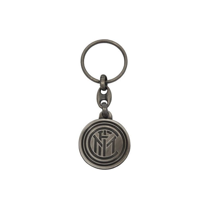 FC INTERNAZIONALE LOGO GRIGIO METALLO KEYCHAIN PORTACHIAVI