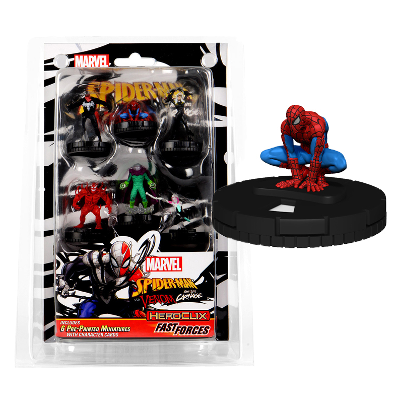 WIZKIDS MARVEL HEROCLIX SPIDER-MAN AND VENOM ABSOLUTE CARNAGE FAST FORCES BLISTER GIOCO DA TAVOLO