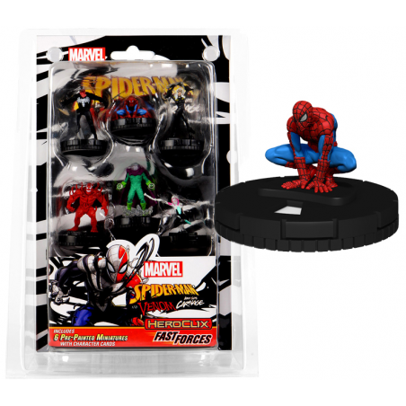 MARVEL HEROCLIX SPIDER-MAN AND VENOM ABSOLUTE CARNAGE FAST FORCES BLISTER GIOCO DA TAVOLO