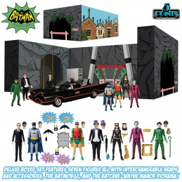 MEZCO TOYS BATMAN 1966 5 POINTS DELUXE BOX SET ACTION FIGURE