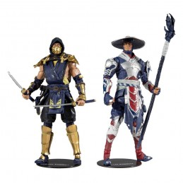 MC FARLANE MORTAL KOMBAT SCORPION AND RAIDEN 2-PACK 18CM ACTION FIGURE
