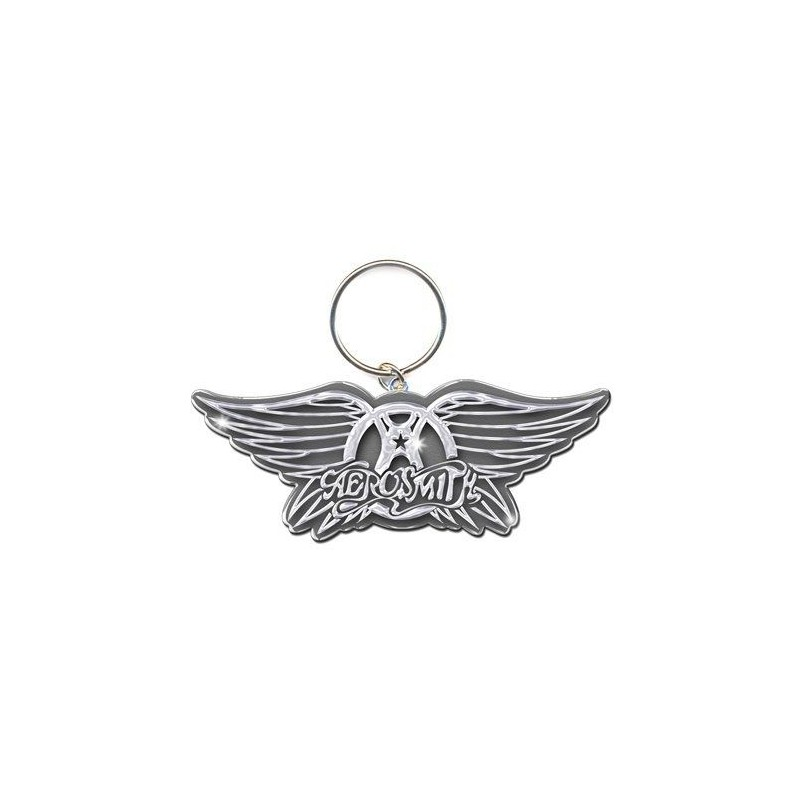 ROCK OFF AEROSMITH LOGO METALLO KEYCHAIN PORTACHIAVI
