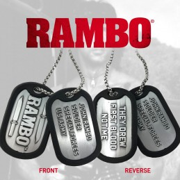 RAMBO LIMITED EDITION DOG TAGS NECKLACE