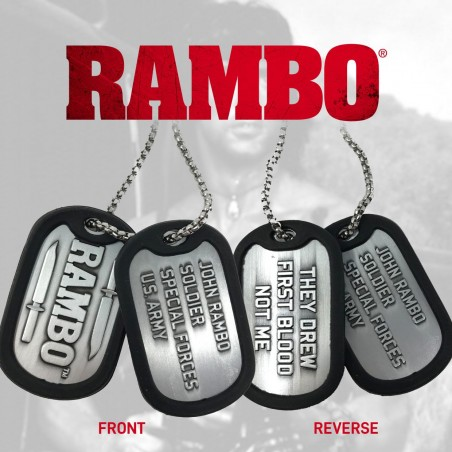 RAMBO LIMITED EDITION DOG TAGS PIASTRINE NECKLACE