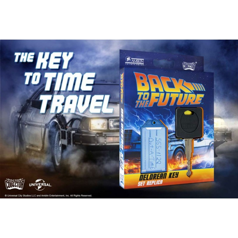 BACK TO THE FUTURE CHIAVE DELOREAN KEY REPLICA DOCTOR COLLECTOR