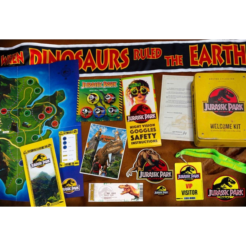 JURASSIC PARK WELCOME KIT SET DA COLLEZIONE DOCTOR COLLECTOR