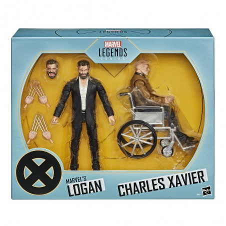 MARVEL LEGENDS LOGAN AND CHARLES XAVIER ACTION FIGURE