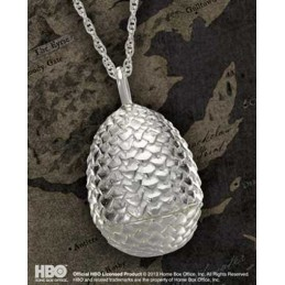 NOBLE COLLECTIONS GAME OF THRONES DRAGON EGG PENDANT CIONDOLO IN ARGENTO