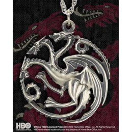 NOBLE COLLECTIONS GAME OF THRONES TARGARYEN PENDANT CIONDOLO IN ARGENTO