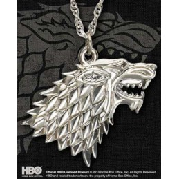 NOBLE COLLECTIONS GAME OF THRONES STARK PENDANT CIONDOLO IN ARGENTO