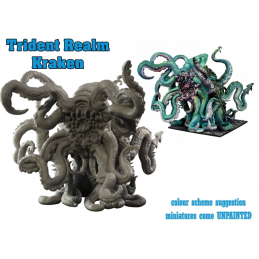 MANTIC ARMADA TRIDENT REALM KRAKEN MINIATURE BOARD GAME