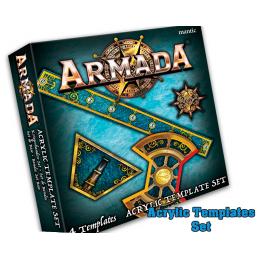 MANTIC ARMADA ACRYLIC TEMPLATE SET BOARD GAME