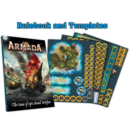 MANTIC ARMADA REGOLAMENTO RULEBOOK AND TEMPLATES GIOCO DA TAVOLO