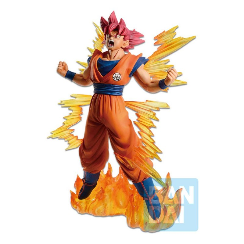 BANDAI DRAGON BALL SUPER SAIYAN GOD SON GOKU ICHIBANSHO STATUE FIGURE