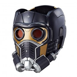 HASBRO MARVEL GUARDIANS OF THE GALAXY ELECTRONIC HELMET STAR LORD FULL SCALE CASCO 1/1
