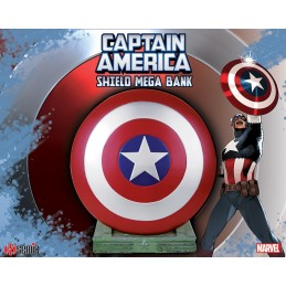SEMIC CAPTAIN AMERICA SHIELD MEGA BANK FIGURE