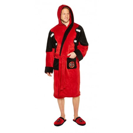 MARVEL COMICS DEADPOOL FLEECE BATHROBE ACCAPPATOIO